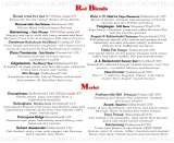 Pricelists of Rick's Cafe Americain - Restaurant and Bar