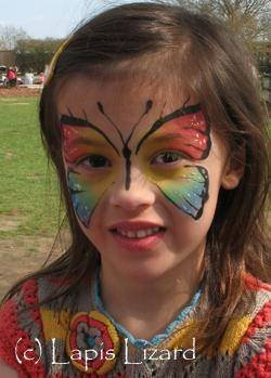 7 of 10 photos pictures view lapis lizard face painting and body