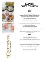 Pricelists of Continental Event Catering