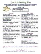 Menus & Prices, Piper Restaurant and Banquet Venue, Macatawa/Holland