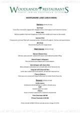 Pricelists of Woodlands Restaurant Hampstead