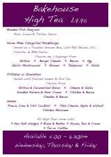 Menus & Prices, The Old Bakehouse Bistro & Grill, West Linton
