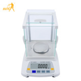 High-precision laboratory electronic balance scale with draft shield