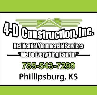 Residential and Commercial Services: 4-D Construction, Inc.