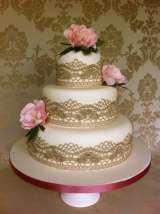 Small antique lace and peony cake from £280 Sharon Lord Cakes Fiddlers Field Croydon Road