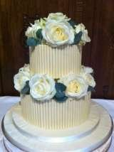 White chocolate and fresh roses £165 excl roses Sharon Lord Cakes Fiddlers Field Croydon Road