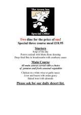 Pricelists of The Acorn Inn and Restaurant