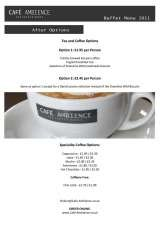 Pricelists of Cafe Ambience