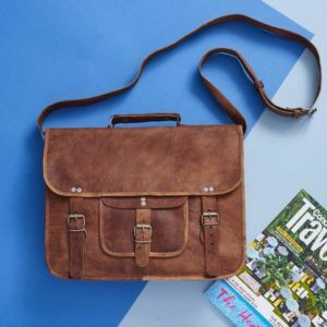 Grande Men's Classic Leather Satchel Products of Leather Article 246 E Colden Ave - Photo 6 of 10