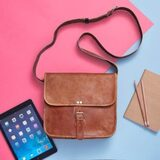 Leather 1 Buckle Day Bag Leather Article 246 E Colden Ave