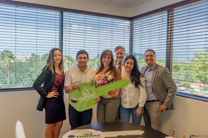 The Sanchez Family 1 year after purchasing their dream home with us in Miami Lakes.<br />