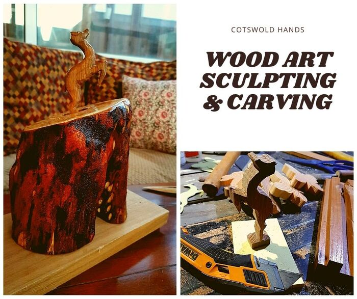 Carved Wood - hand crafted New Album of Cotswold Hands - Woodwork, Carpentry & Recycled Art Craft 127 Farmers Close - Photo 1 of 6