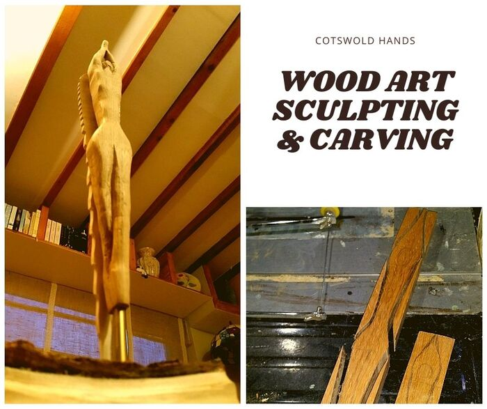 Hand carved sculpture made of wood New Album of Cotswold Hands - Woodwork, Carpentry & Recycled Art Craft 127 Farmers Close - Photo 2 of 6