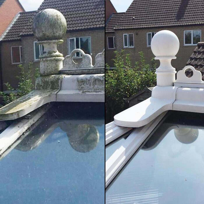 Conservatory cleaning. Cleaning all conservatory roofs, framework and glazing. Cleaning away all green algae and dirt. Make your old conservatory look like new again with a professional conservatory clean. Leicester & Leicestershire. New Album of Storm Window Cleaning Leicester 58 Copson Street, Ibstock, Coalville - Photo 10 of 19
