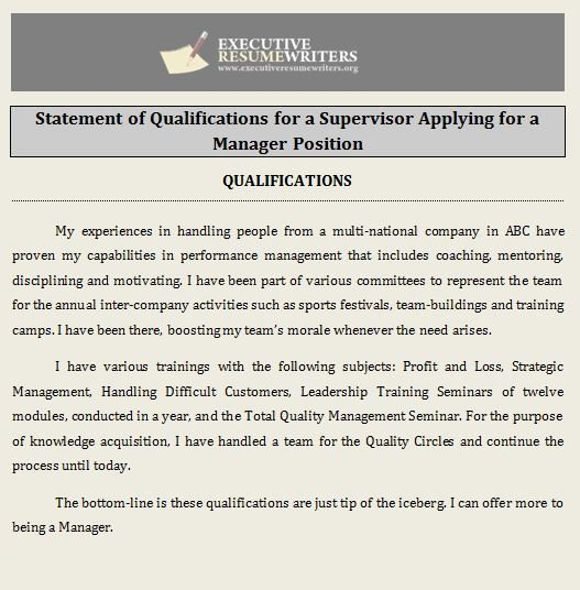 Statement of Qualifications Profile Photos of Executive Resume Writers San Fernando - Photo 10 of 10