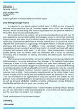 Executive Cover Letter Sample Executive Resume Writers San Fernando