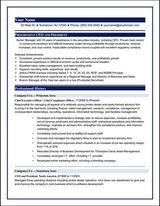 Executive Resume Sample 1 Executive Resume Writers San Fernando