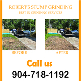Stump Grinding Jacksonville Beach, Fl Robert's Stump Grinding Robert's Stump Grinding