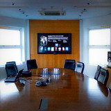 boardroom interactive touch screen installation
