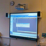 classroom interactive whiteboard projector install