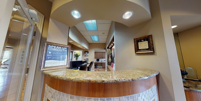 Checkout counter at Old Hickory dentist Dental Bliss Hermitage Dental Bliss Hermitage of Dental Bliss Hermitage 601 Brandywine Village Ct - Photo 3 of 23