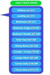 Pricelists of Ksw Carpet cleaners Bristol