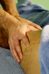 Deep Tissue Techniques are used to loosen the tight muscles.
