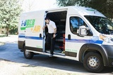 Mike Stepping Out of Van, 1-800-PLUMBER +AIR, Pearland