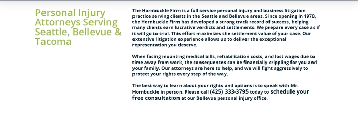 Profile Photos of The Hornbuckle Firm 506 Second Avenue, Suite 1400-4025 - Photo 2 of 4