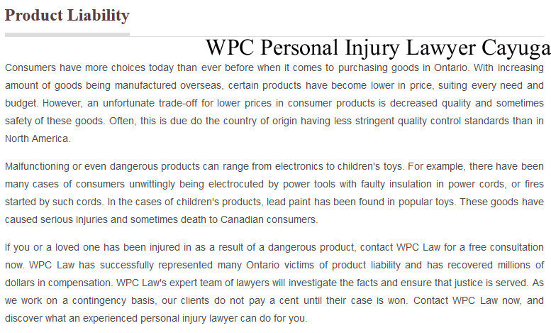 law and dangerous products Injuries from defective and dangerous products include fires and burns, amputations, electrical shock, explosions, suffocation and even death.