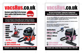 vacs R us Vacuum Cleaner Dyson / Henry Hoover Service and Repair