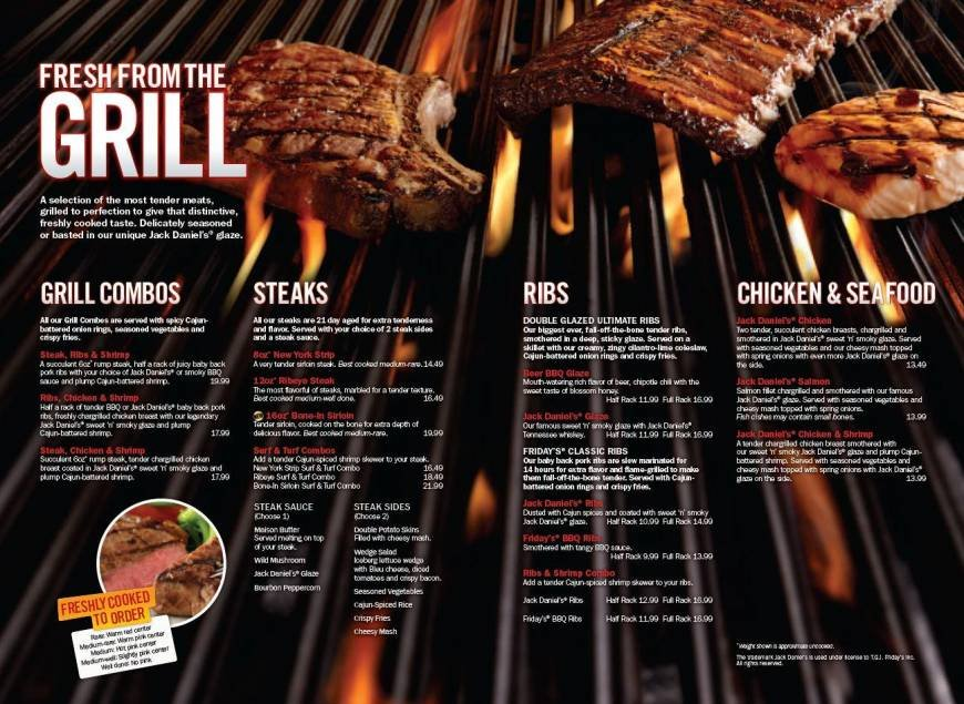 menus amp prices 33 pages t g i friday s westfield