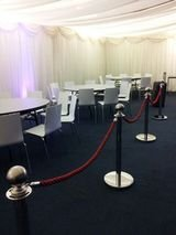 Post and rope barrier hire London. Call 07811 50 60 70