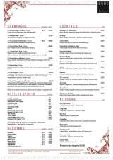 Pricelists of the GRILL - QUBE Bar & Grill