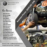 Pricelists of Sovereign Motors Inc | Auto Services Vancouver