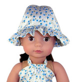 Frilly Hat                                         , Rosies Doll Clothes Patterns, Ferny Grove