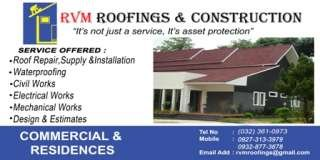 RVM Roofings and Construction