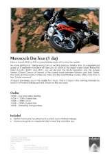 Pricelists of Columbus International - Motorcycle Rentals Nice AIrport France