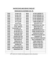 Pricelists of Abatar Limo and Car Service