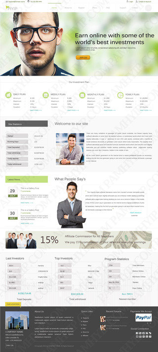 Make user friendly HYIP website design