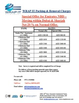 Pricelists of Wrap It Cargo Packaging LLC