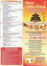 Pricelists of Little China Chinese Takeaway Willington