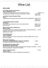Pricelists of The Boat Yard - Canalside Pub, Food & Rooms - Preston