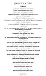 Menus & Prices, Le Mistral, Houston