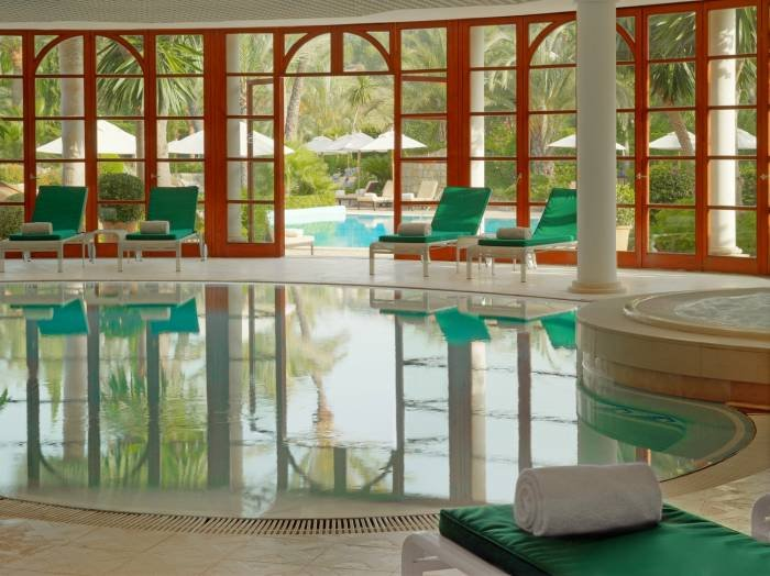 Immerse yourself in a world of well-being in our indoor pool, jacuzzi or sauna at the Arabella Spa.  Profile Photos of Sheraton Mallorca Arabella Golf Hotel Carrer de Vinagrella, Urbanization Son Vida - Photo 8 of 23