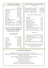 Pricelists of The Harbour Garden Cafe