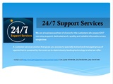 Pricelists of 24/7 Support Services