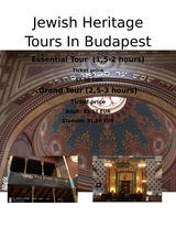 Pricelists of Jewish Heritage Tours in Budapest
