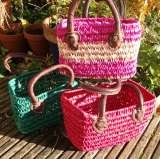 Raffia Bags with leather trimmins from £12.00, free delivery http://ow.ly/lUD1K