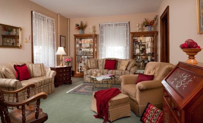 Our Gathering room has no TV and is ready for easy relaxation and conversation. Profile Photos of Walnut Lawn Bed and Breakfast 1027 Village Road - Photo 7 of 8